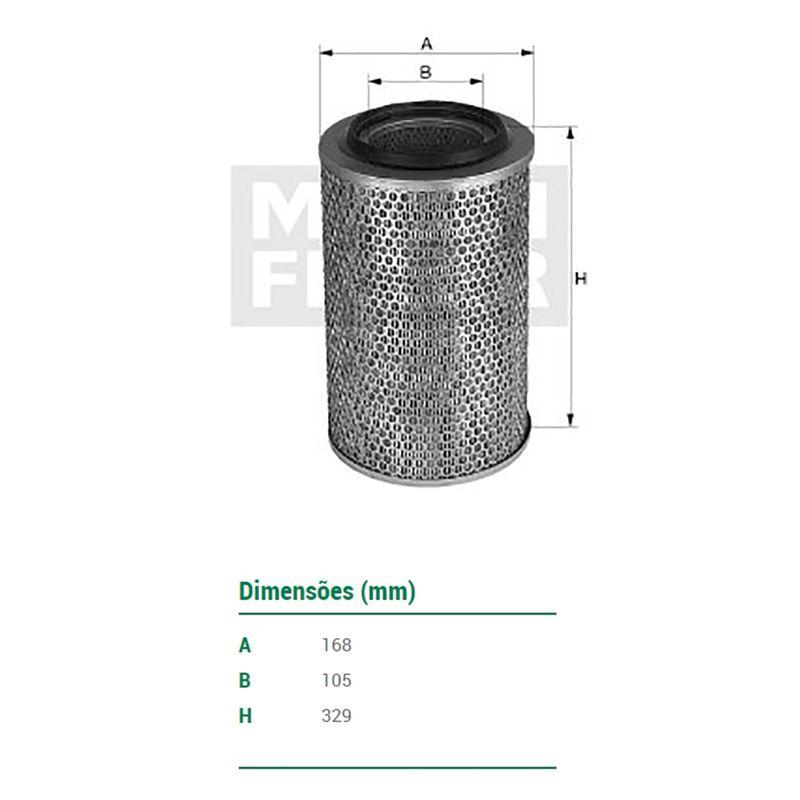 Filtro-De-Ar-Do-Motor-Ford-F1000-F2000-F4000-Mann-Filter-C172621-DPS-25145-01