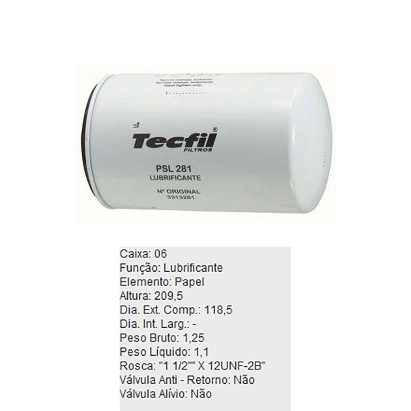 Filtro-De-Oleo-Tecfil-Psl281-Vw-Cummins-DPS-45711-01