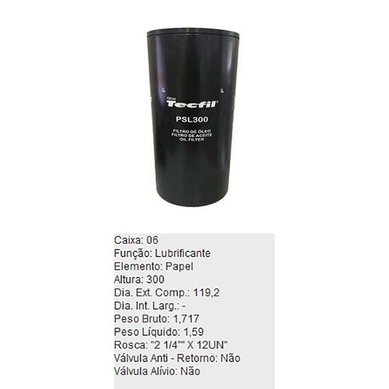 Filtro-De-Oleo-Tecfil-Psl300-Fiat-Allis-Ford-1030-1422-Maxton-DPS-45713-01