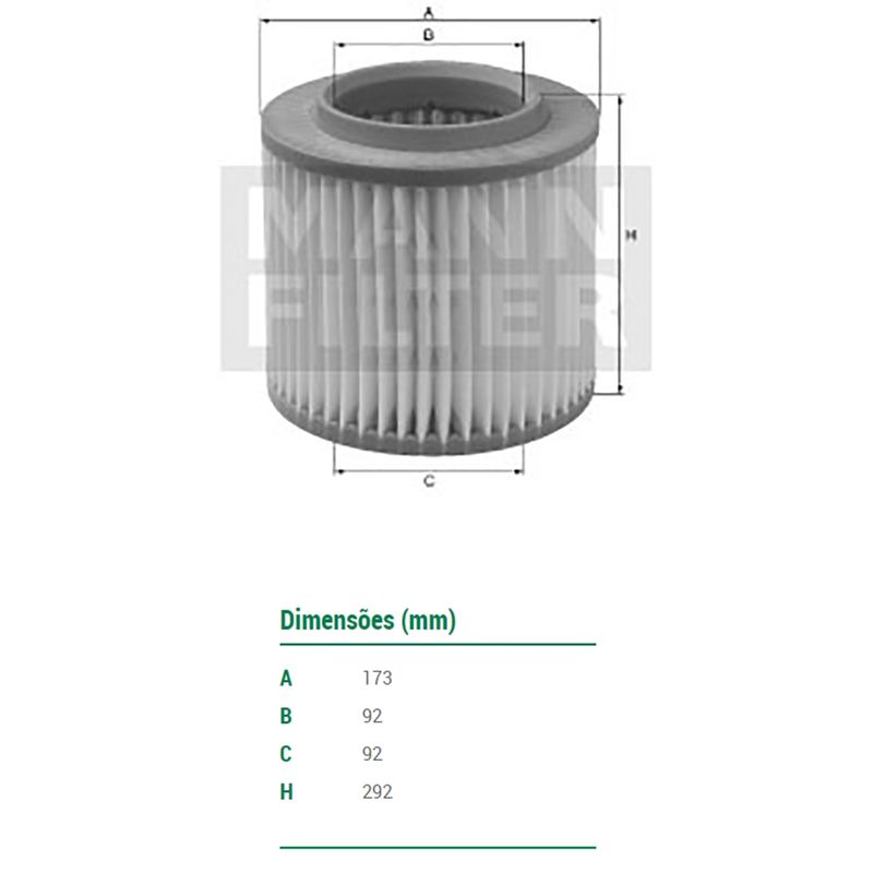 Filtro-De-Ar-Do-Motor-Ford-Ranger-Mann-Filter-C18263-DPS-58485-01