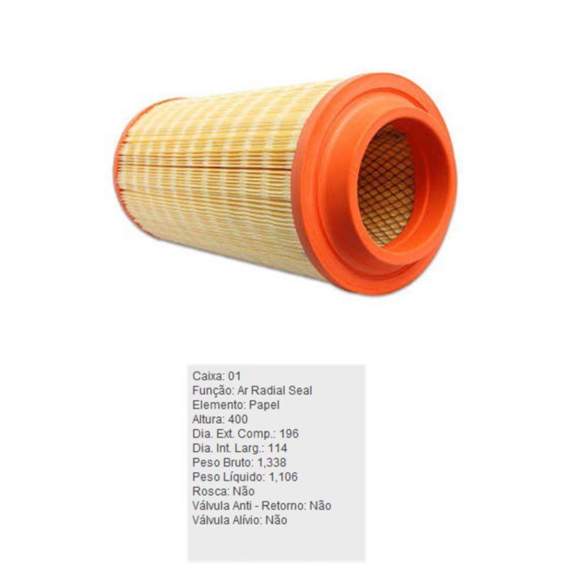 Filtro-De-Ar-Do-Motor-Agrale-6000-6110-7000-7500-8000-Tecfil-Ars3003-DPS-59713-01