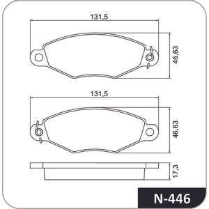 Pastilha-Freio-Convencional-Dianteira-Sem-Alarme-Sistema-Bendix-N446-Cobreq-DPS-65055-01