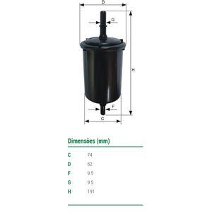 Filtro-De-Combustivel-Crossfox-Fox-Mann-Filter-Wk7304-DPS-7510101-01