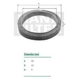 Filtro-De-Ar-Do-Motor-Sandero-Mann-Filter-C2680-DPS-7510403-01
