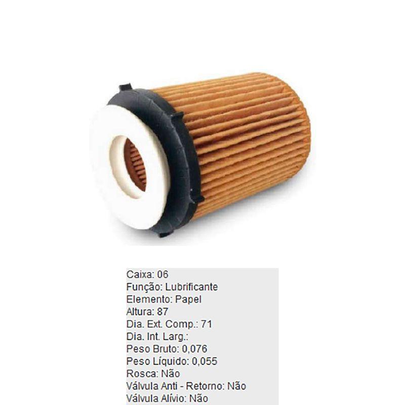 Filtro-De-Oleo-Lubrificante-Refil-Pel805-Tecfil-DPS-7531184-01